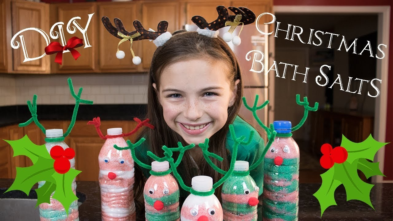 DIY Christmas Gifts for Kids, DIY Christmas Bath Salts, Peppermint Bath Salts