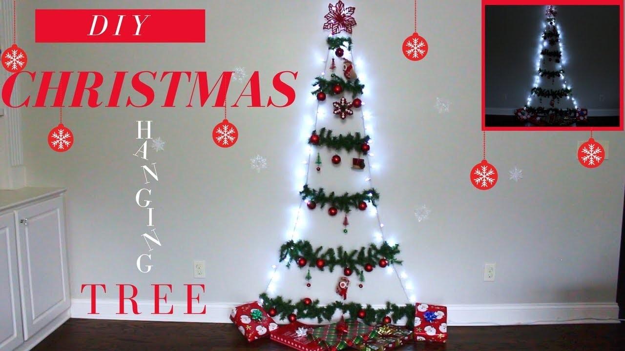 DIY CHRISTMAS HANGING TREE | LAST MINUTE CHRISTMAS TREE IDEA | DIY CHRISTMAS DECORATION