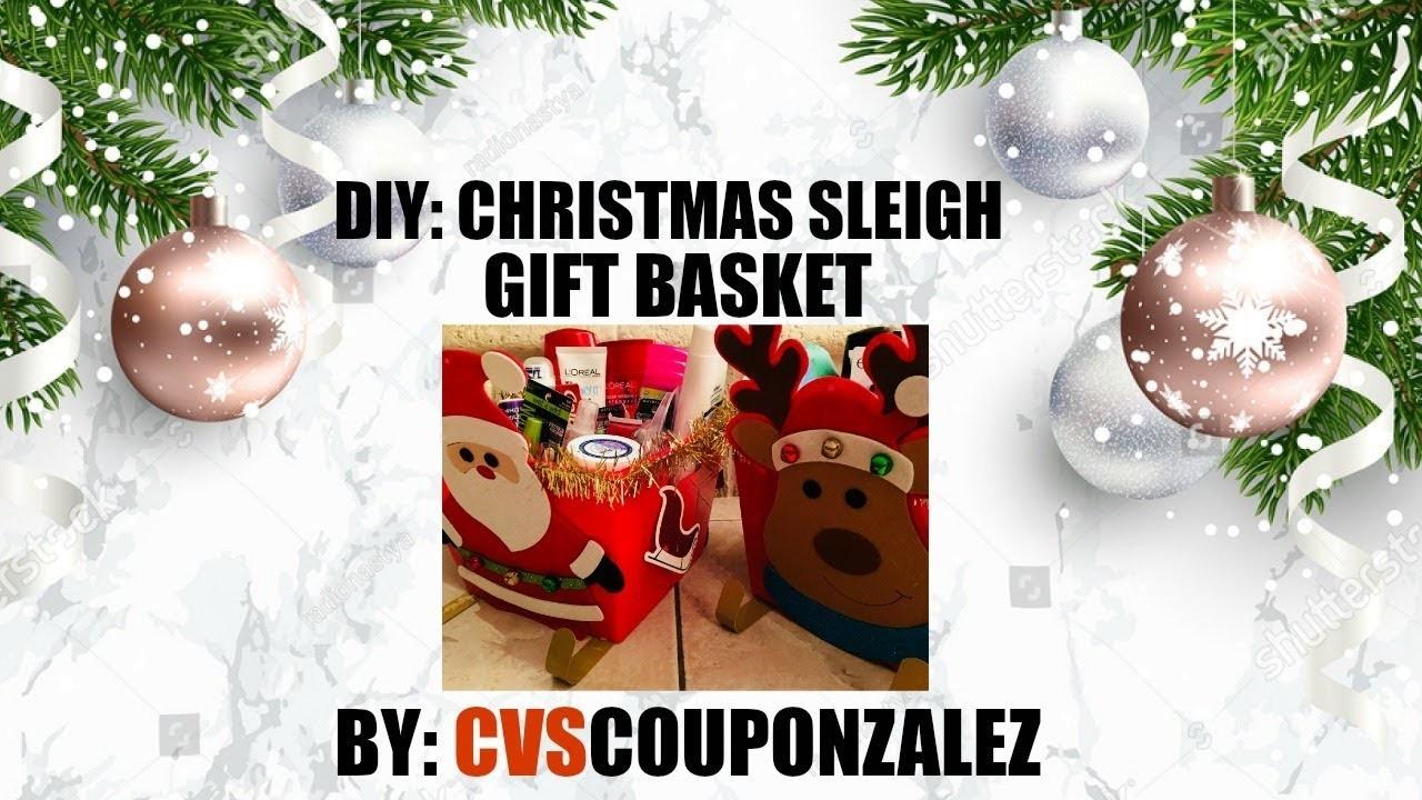 DIY | CHRISTMAS SLEIGH GIFT BASKET