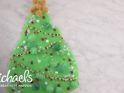 DIY Christmas Tree Slime! | Michaels