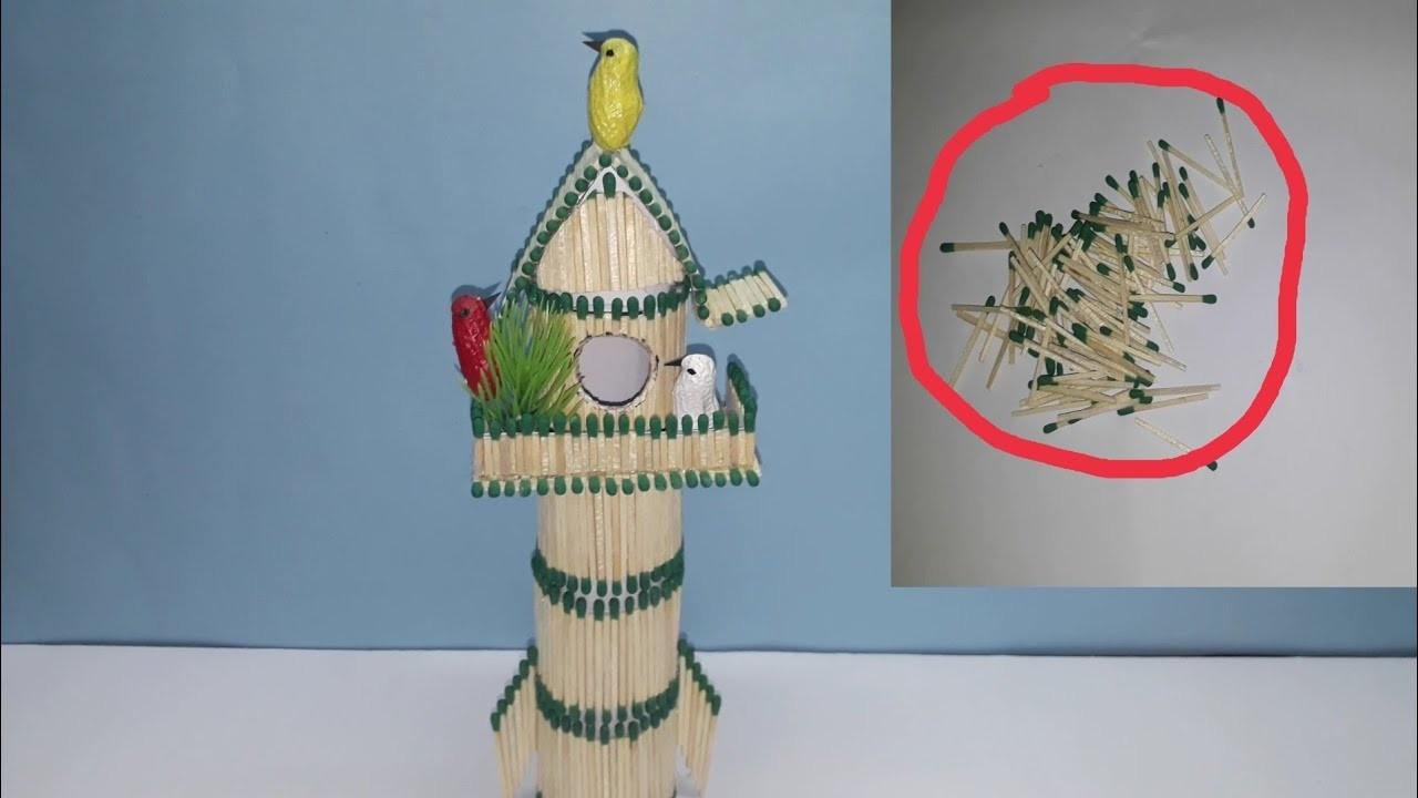 DIY Crafts : How to make a Match Sticks House very easy
