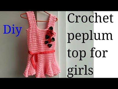 DIY Crochet peplum top