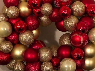 DIY Dollar Tree Gold And Red Christmas Wreath