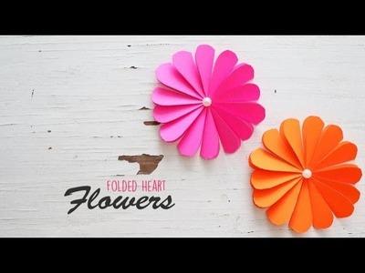 DIY Folded Heart Flowers