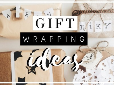DIY Gift Wrapping Ideas!   4 Simple Ways to Wrap a Christmas Present