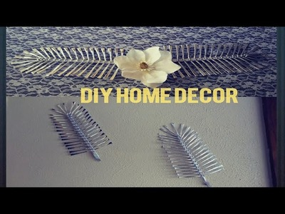 DIY HOME DECOR MADE WITH DOLLAR TREE SPOONS ENDS.WALL DECOR.CENTERPIECE.CHEAP AND EASY GLAM DECOR