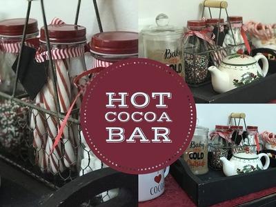 DIY HOT CHOCOLATE BAR   CHRISTMAS DECOR