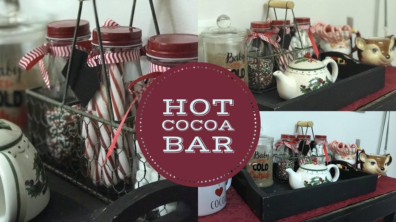 DIY HOT CHOCOLATE BAR | CHRISTMAS DECOR
