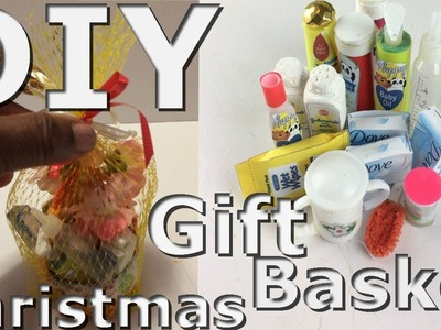 DIY .How to make a Miniature Christmas baby gift basket for Dolls