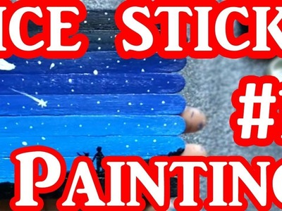 DIY Ice Cream Sticks Painting #1 | Shayarana Sumit