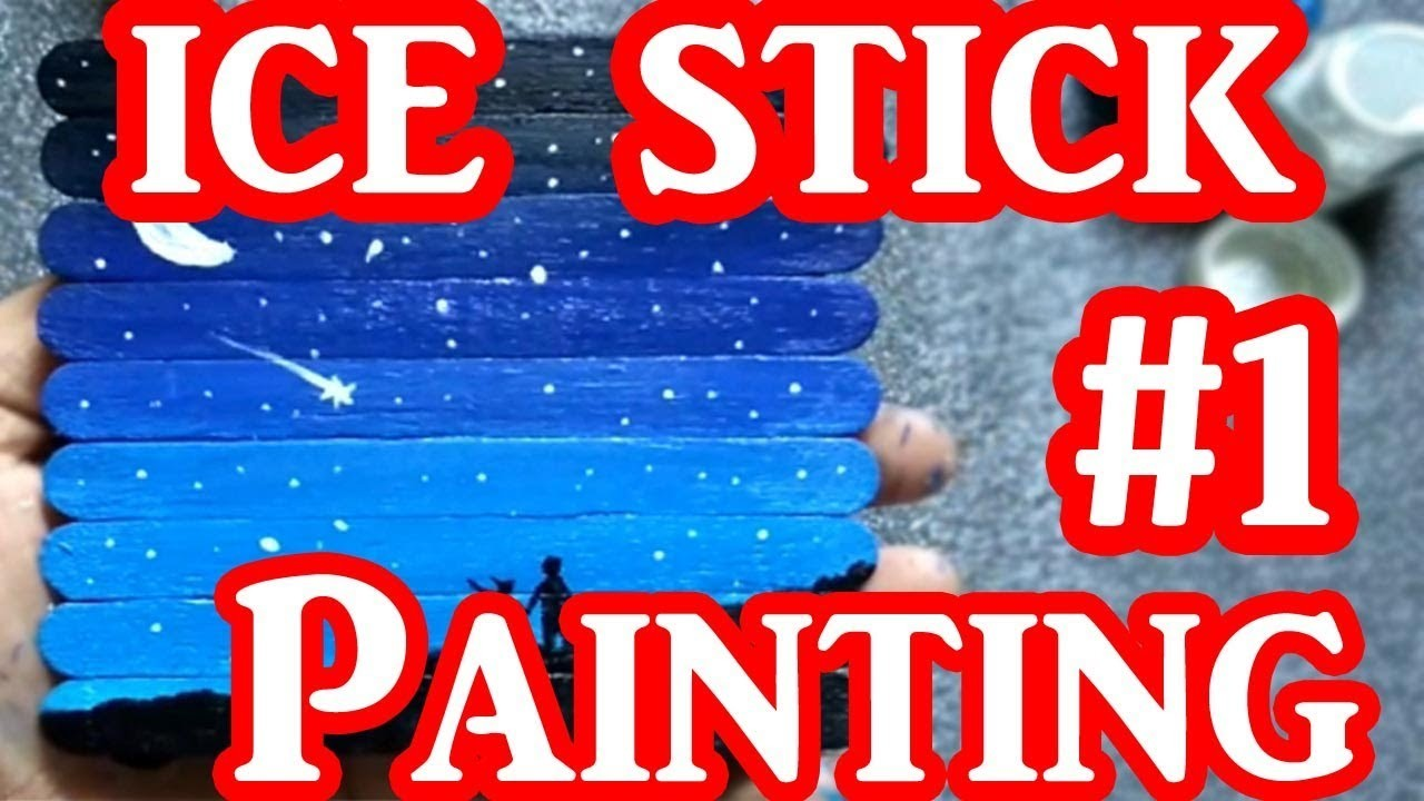 DIY Ice Cream Sticks Painting #1 | Shayarana Sumit