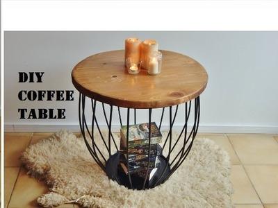 DIY Industrial Coffee Table with Hacks