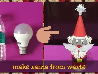 DIY    Make Santa Claus Doll at Home using Recycled Materials    by World of Artifact