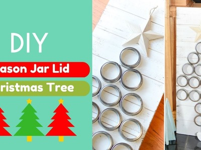 DIY Mason Jar Lid Christmas Tree | Brought to You by Mom