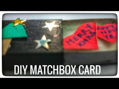 DIY Matchbox Christmas Card!! Last Min Greeting Cards!!