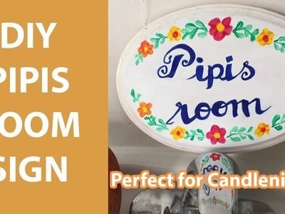 DIY PIPIS ROOM SIGN | MBMBaM Crafting