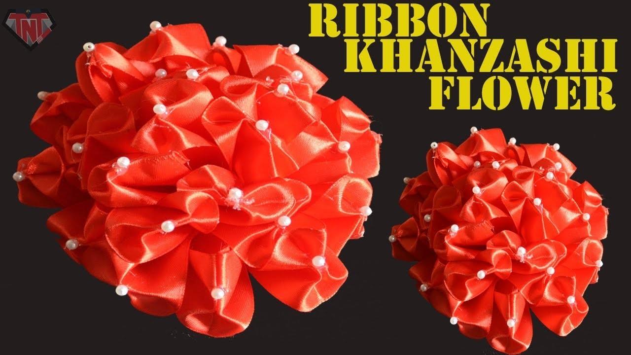 DIY Ribbon flower    Wedding Decoration Flower    Satin Kanzashi Flower    Homemade Crafts