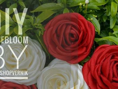 DIY. ROSE BLOOM From Satin Fabric |||Cara Mudah Membuat Bunga Mawar Dari Kain Satin.Perca Satin|||