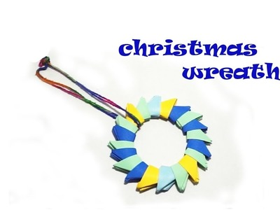 #DIY simple and easiest way to fold an origami Easter. Christmas wreath(wheel)-2.