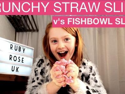 DIY Super Crunchy Slime | Cheap Straw Slime v's Expensive Fishbowl Slime | Ruby Rose UK