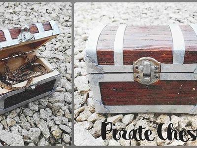 DIY * Treasure Pirate Chest * Decorate a Miniature Chest * Tutorial