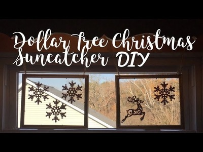 Dollar Tree Christmas Suncatcher DIY