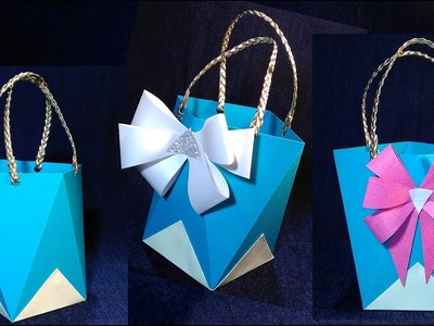 Easy Gift Bag with Handles. ???? Paper gift bag with handles. NO TEMPLATES