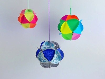 How to Make a Paper Ornament EASY