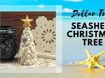 How to make a Seashell Christmas Tree | DIY Dollar Tree Seashell Christmas Tree