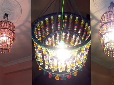 How To Make Jhumar | Wall Hanging Decoration | DIY Crystal Chandelier | Home Decorating Ideas