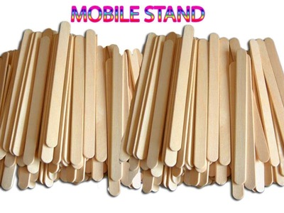 How to make Mobile stand | Popsicle Stick crafts | DIY | Nalicraft
