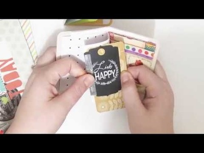 How To Use Up Your Project Life Card Stash - DIY Project Life Card Interactive Embellishments