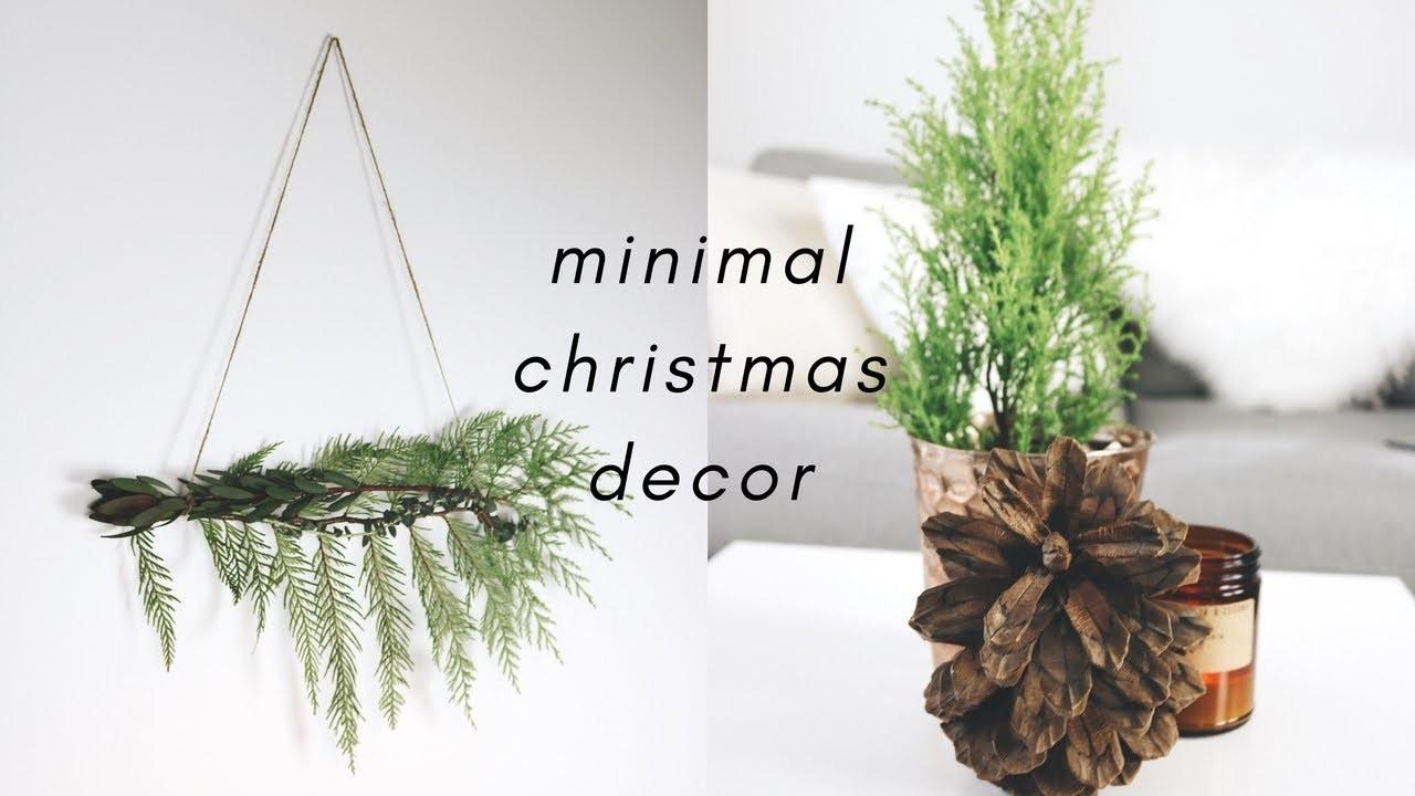 Minimal Christmas Decor Ideas. DIY + Thrifted + on a Budget!