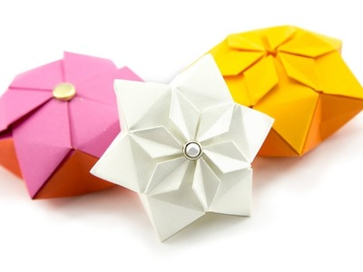 Origami Hexagon Puffy Star Tutorial ♥︎ Paper Kawaii