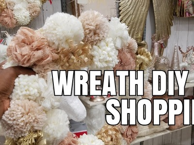 SHOP WITH ME: GETTING CRAFTS FOR MY DIY WREATH | PART 1 |  MICHAEL'S | CHRISTMAS HOME DECOR IDEAS