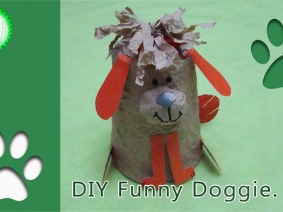 Simple Crafts for Children and their Parents. DIY Funny Doggie.