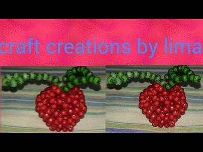 পুতির আপেল||পুতির ফল||How to make beaded fruits||beaded apple||beads fruits