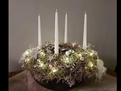 Wieniec adwentowy. DIY. Adventskranz. Advent wreath