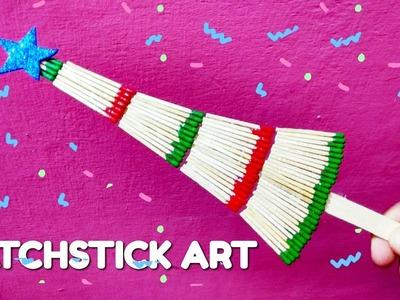 Wonderful christmas tree made with match stick | matchstick art | diy crafts