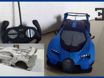 WOW ! Super RC Bugatti Chiron Grand Turismo Vision GT(Cardboard DIY) - ONE AND ONLY IN WORLD!!