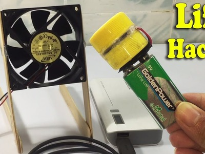 3 Useful Life Hacks Idea DIY at Home, How to make Fan, Powerbank