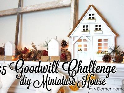 $5 GOODWILL CHALLENGE | CHRISTMAS 2017 | DIY MINIATURE HOUSE