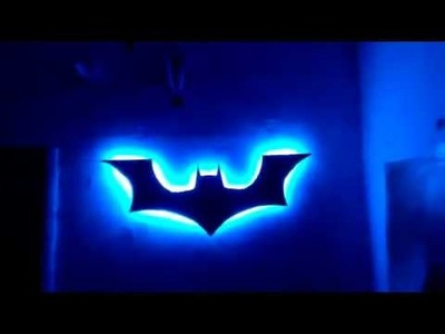 Batman wall decoration with LED. DIY