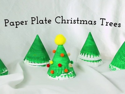 Christmas Crafts - Paper Plate Christmas Trees