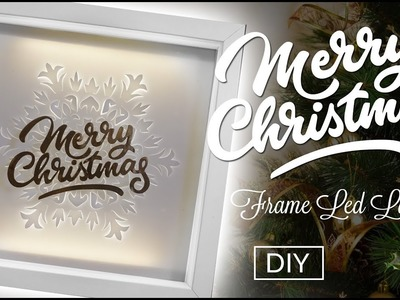 Christmas decor - Led lamp from photo frame DIY