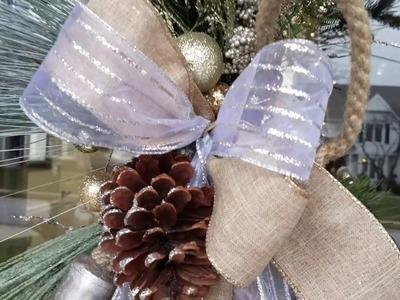 CHRISTMAS DIY. EASY FRONT DOOR SWAG