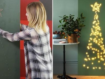 Christmas DIY: Modern Small Space Christmas Tree
