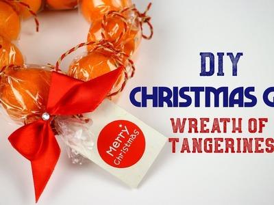 Christmas gifts! DIY Christmas Wreath of Tangerines Mandarines