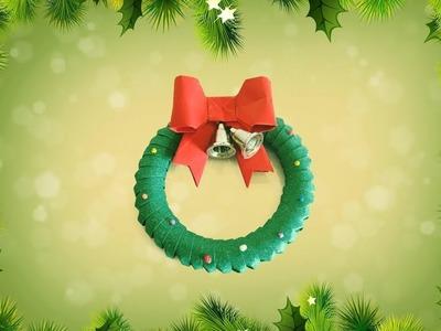 Christmas Ornament. Origami Wreath. Easy And Simple Christmas Idea For Kids | Priti Sharma