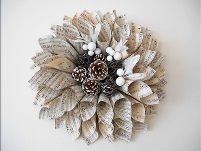 Christmas Poinsettia  -  Paper Wreath